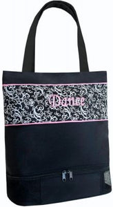 Sassi Designs Damask Dance Bag with Shoe Compartment