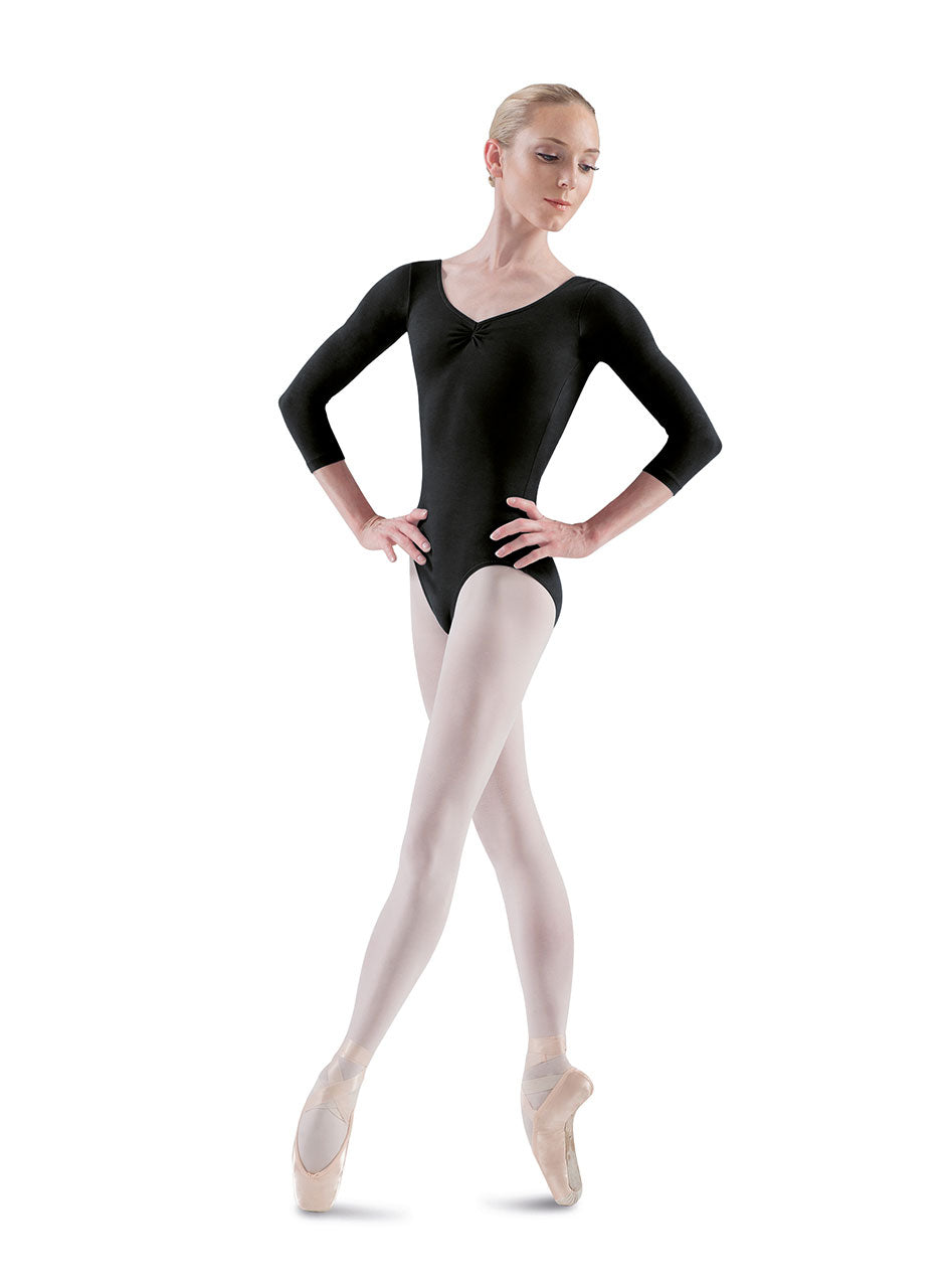 "Bloch ""Ballon"" Pinch Front/Back 3/4 Sleeve Leotards"