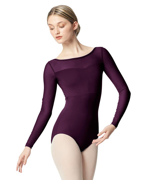 "Lulli ""Lada"" Long Sleeve Mesh Leotard"