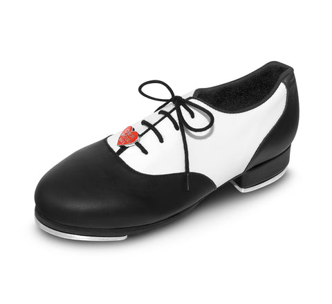 "Bloch ""Chloë and Maud"" Black & White Oxford Tap Shoe"