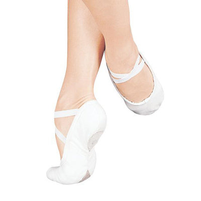 So Danca White Stretch Canvas Ballet Slipper