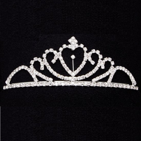 Dasha Designs Solitaire Heart Tiara