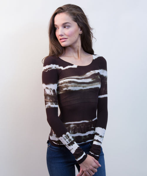 AMB Sheer Long Sleeve Tops