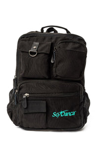 So Danca Black Canvas Backpack