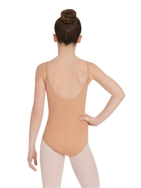 Capezio Camisole Nude Leotard with Adjustable Straps