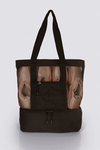 Wear Moi Large Black Mesh Tote Bag