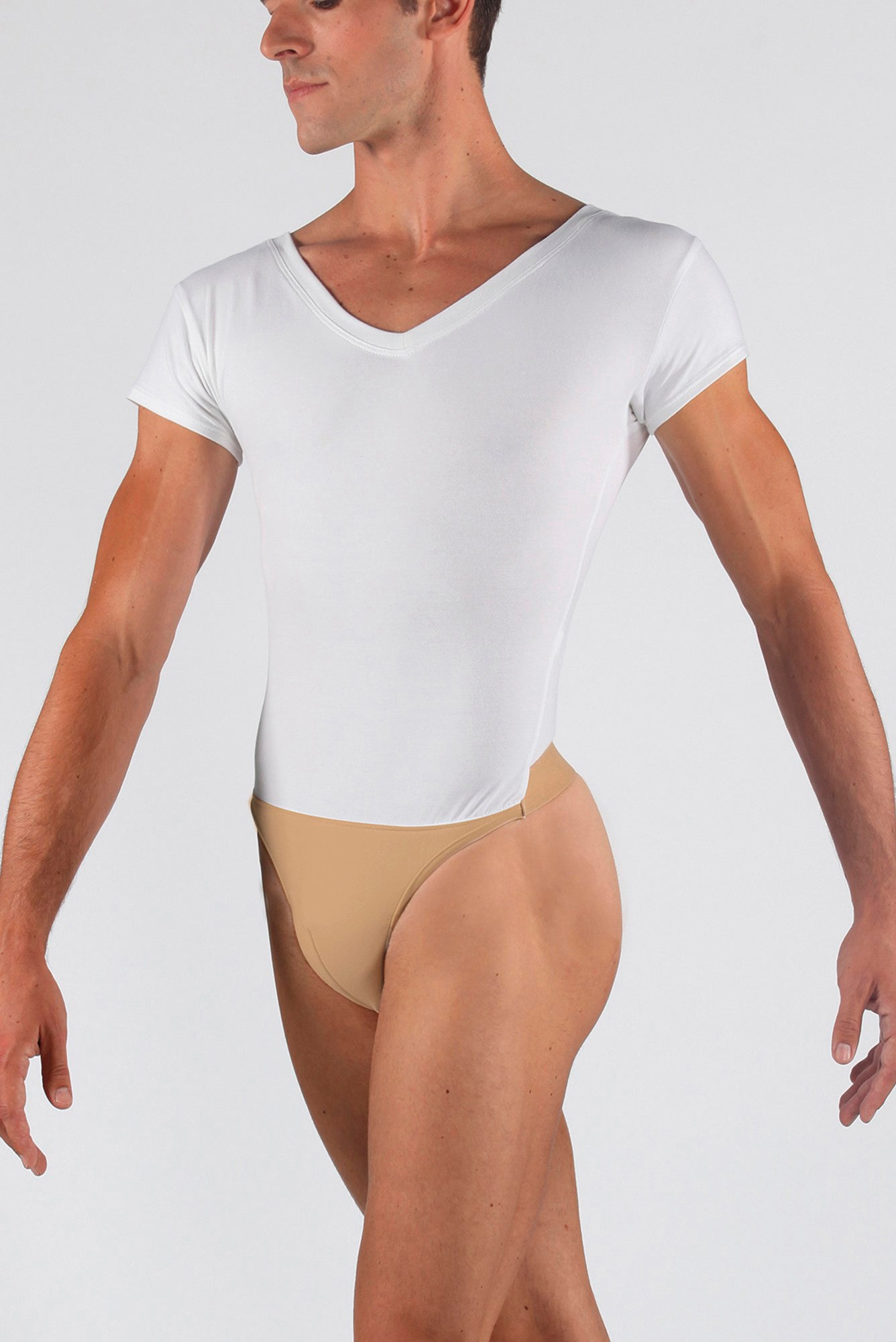 Wear Moi Horacio Men's V-Neck Leotard with attached Dance Belt