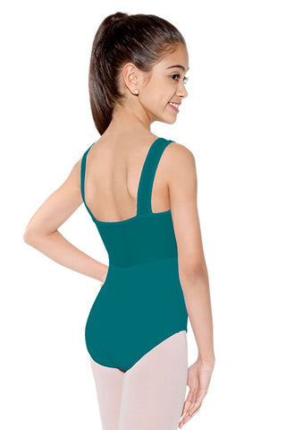 So Danca Mesh Detail, Pinch-Front Tank Leotard