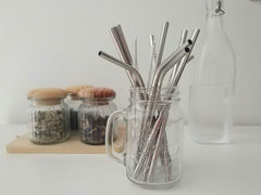 Different types of stainless steel metal straws