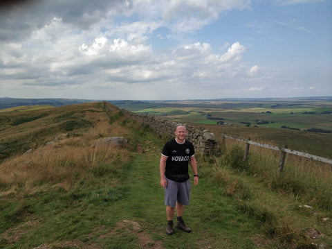 Walking Hadrian's wall Winshield Crags eco holiday tourism