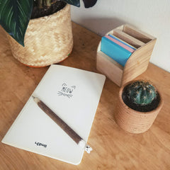 Notepad and pen at the ready to start writing those New Year resolutions.