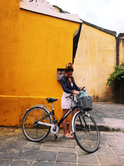 Taking a bicycle out in Hoi An, Vietnam