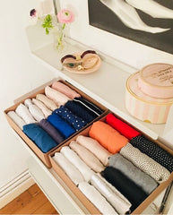 Clothes organised in keeping with the KonMari method