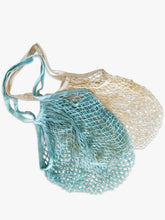 Two colours available in our cotton net tote bags