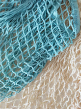 Close up of the net and colour of the organic cotton net tote bags