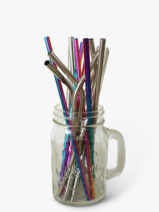 A variety of metal straws to choose from, including smoothie straws, rainbow straws, curved straws and standard straight straws