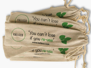 Wholesale packs of reusable straw bags