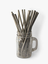 single reusable straight metal straws available for wholesale