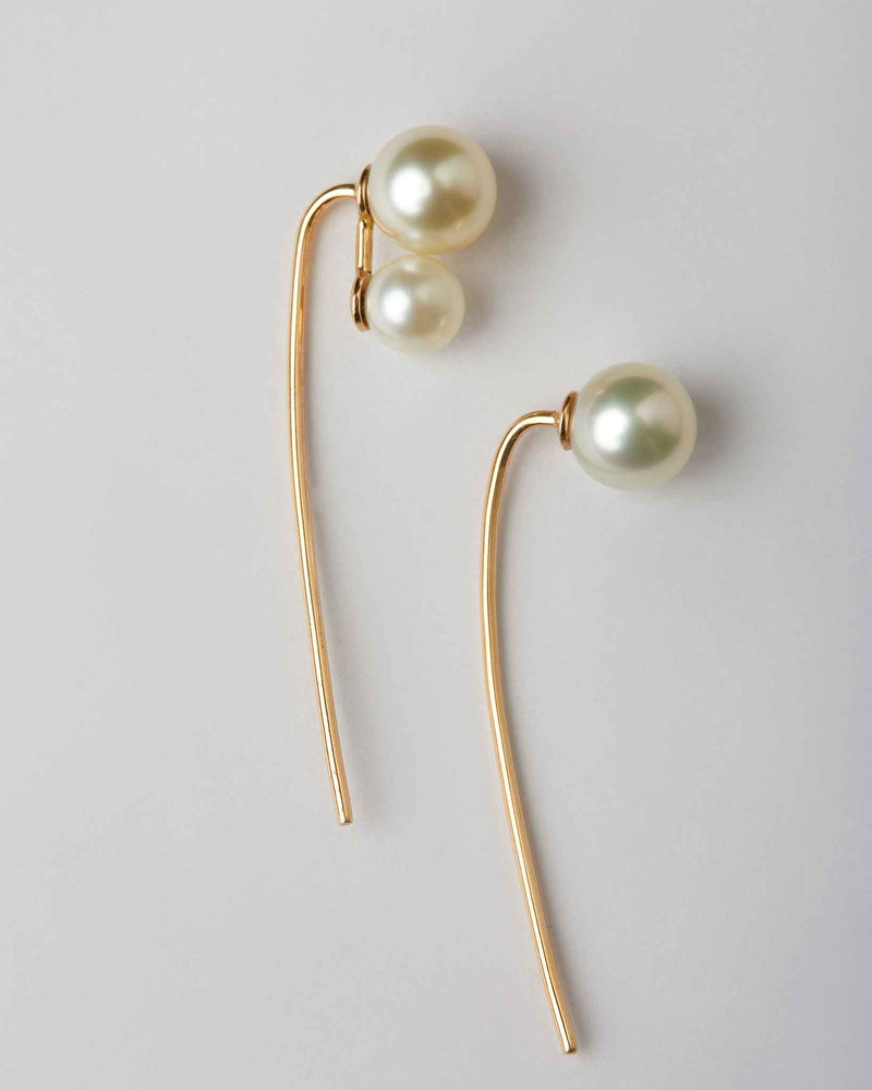 Mismatched 1+2 Pearls on Sticks