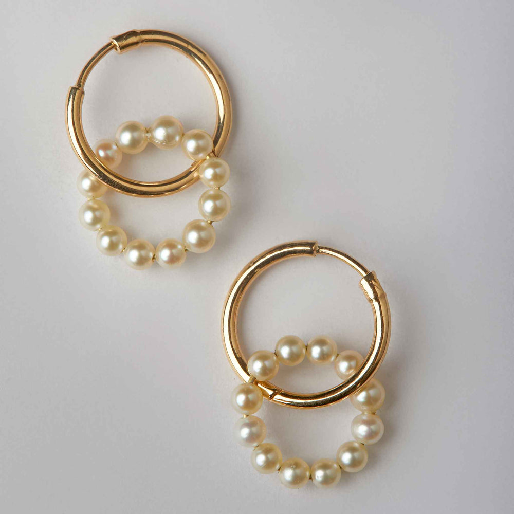Halo Loop in Pearls and Hoops