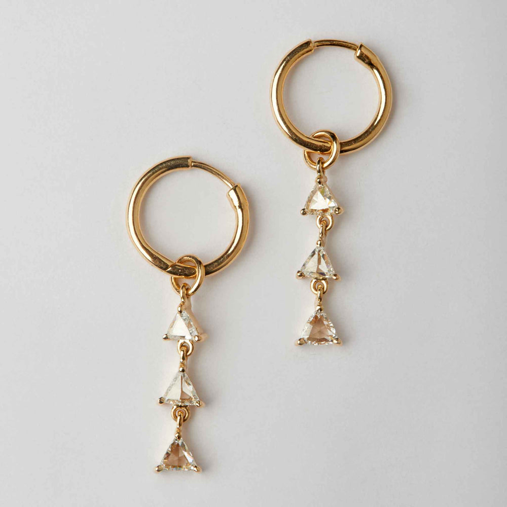 rosecut diamond earrings 18k gold