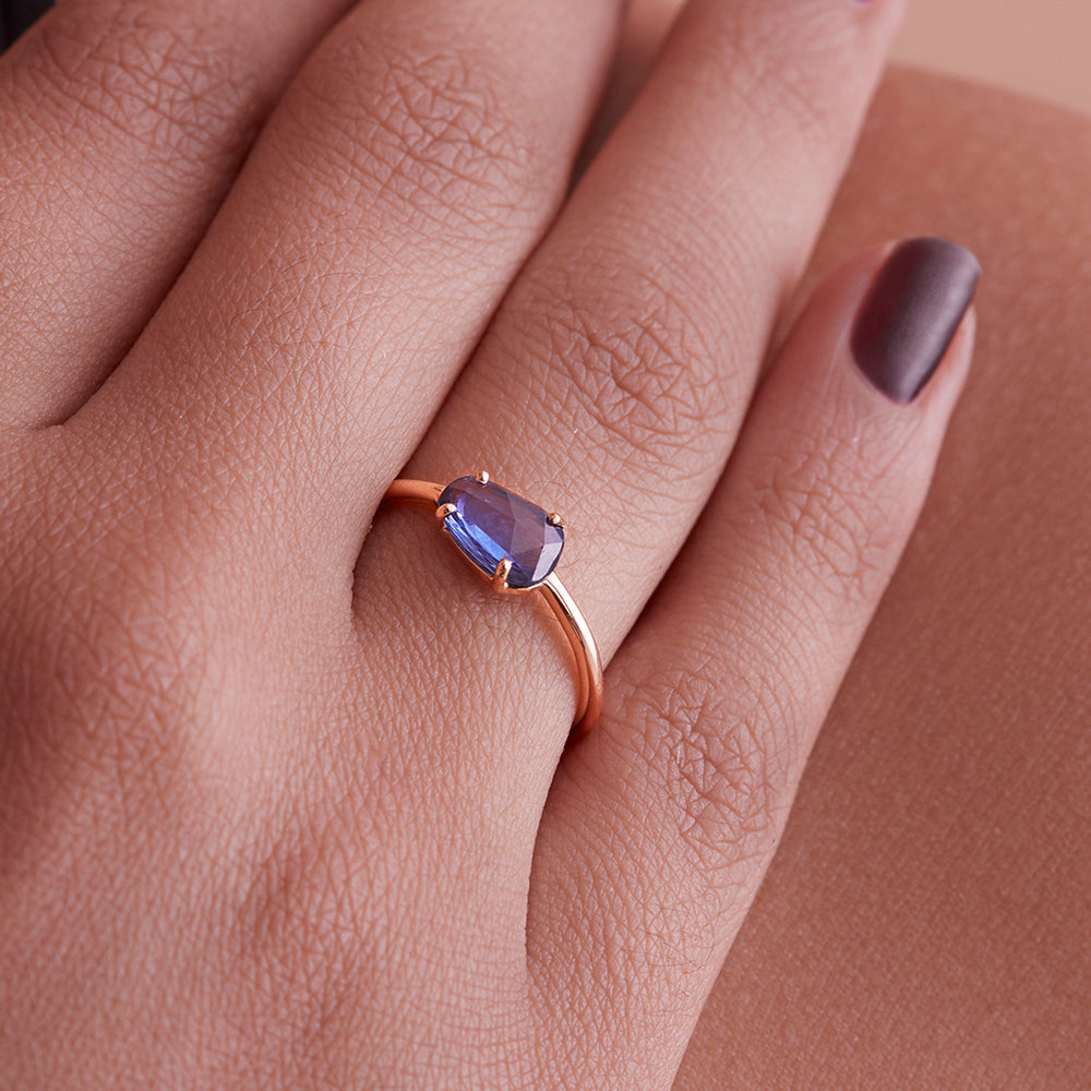 Slice of Sapphire Ring