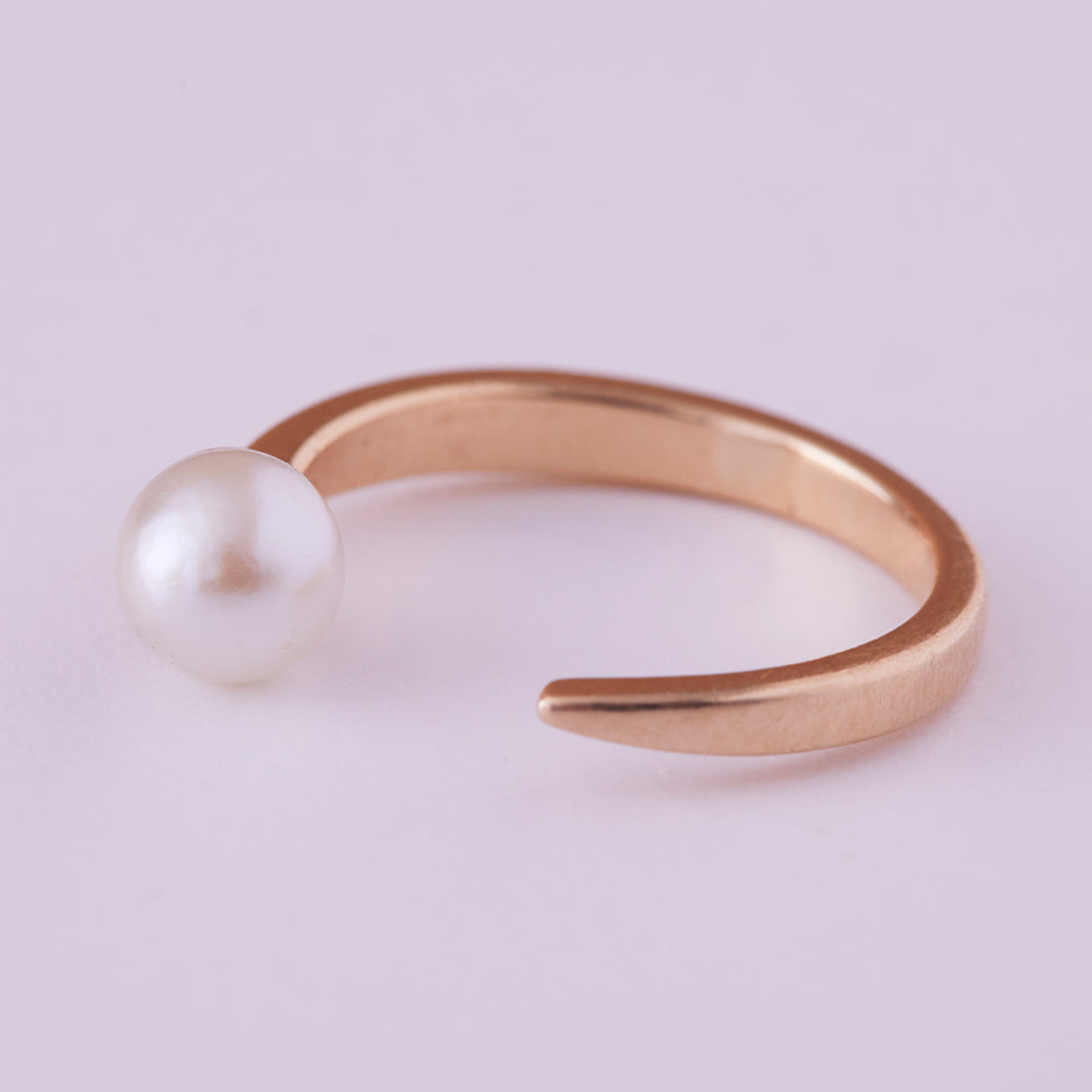 Unfinished Business Ring with Pearl