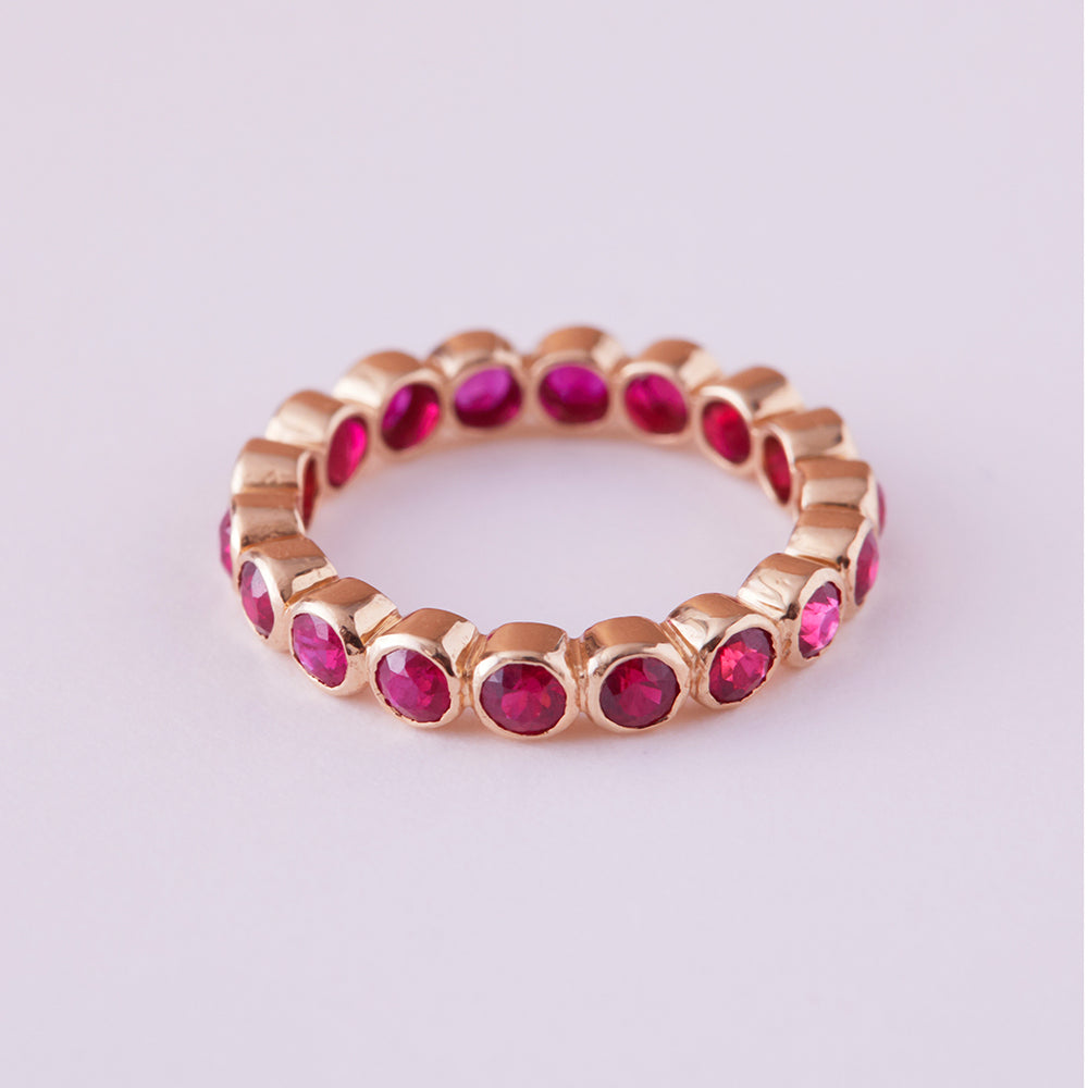 Eternity Ring with Rubies