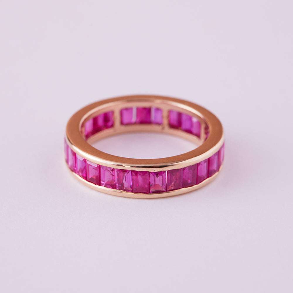 Eternity Ring with Rubies (Baguette)