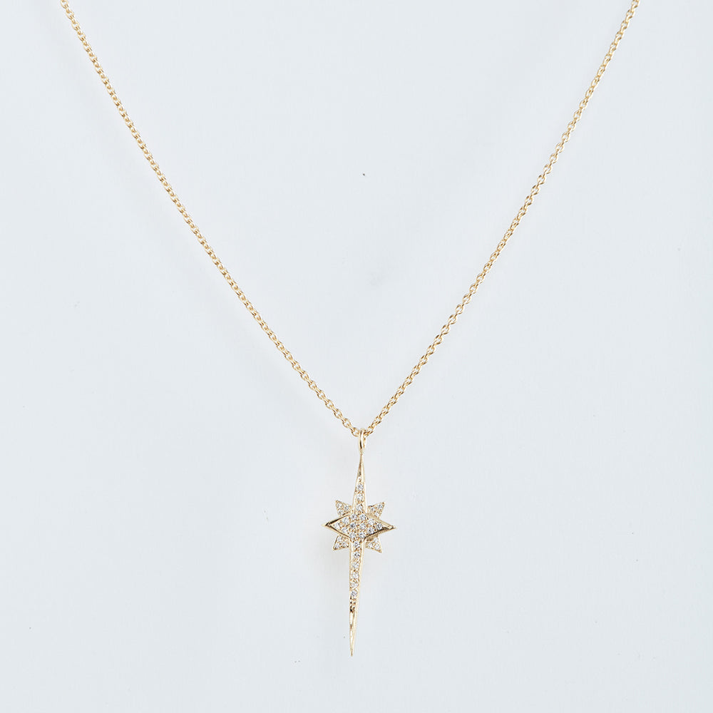Starburst Necklace with Pave-set Diamonds