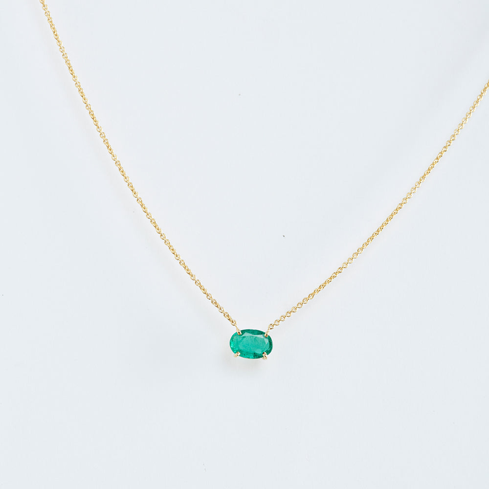 Emerald on Chain Necklace
