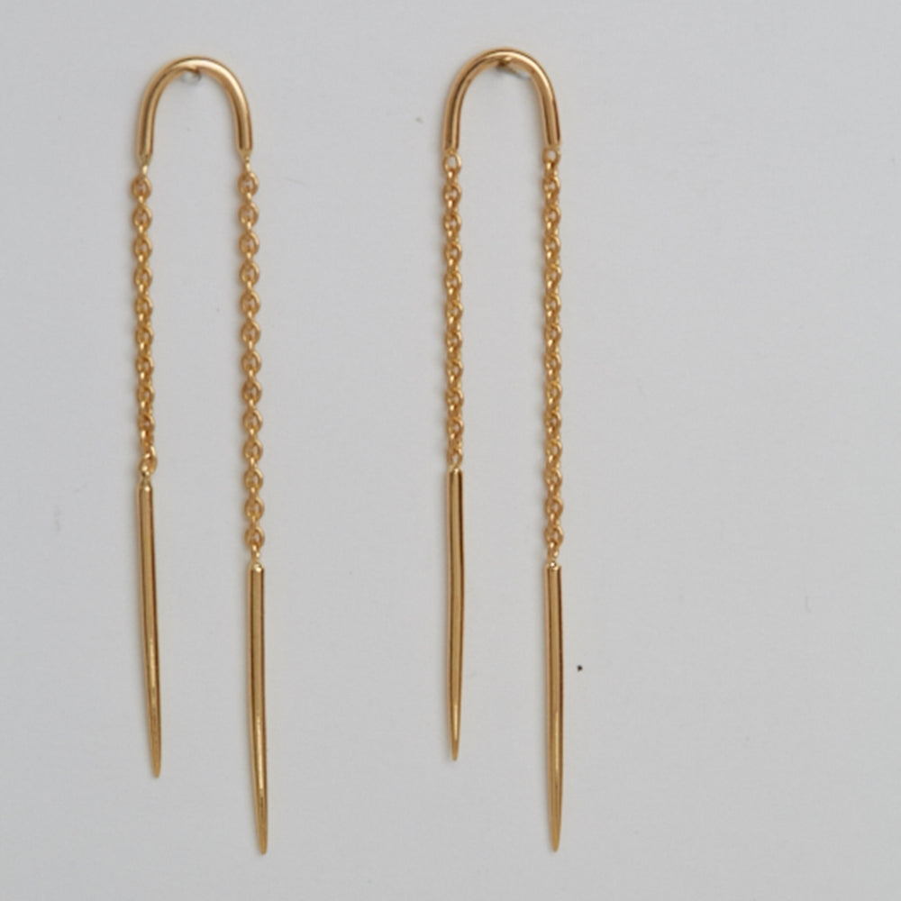 Double Stick and Chain Earrings
