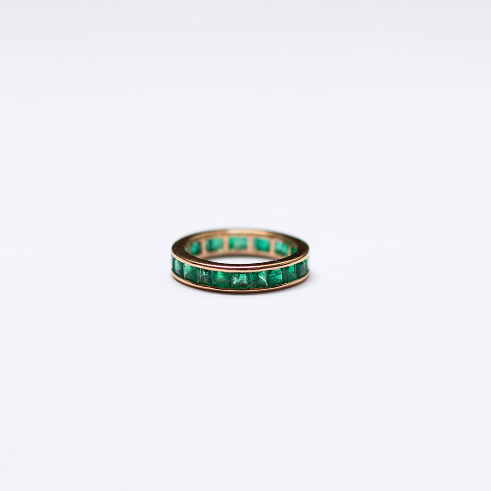 Eternity Ring with Emeralds (Princess)