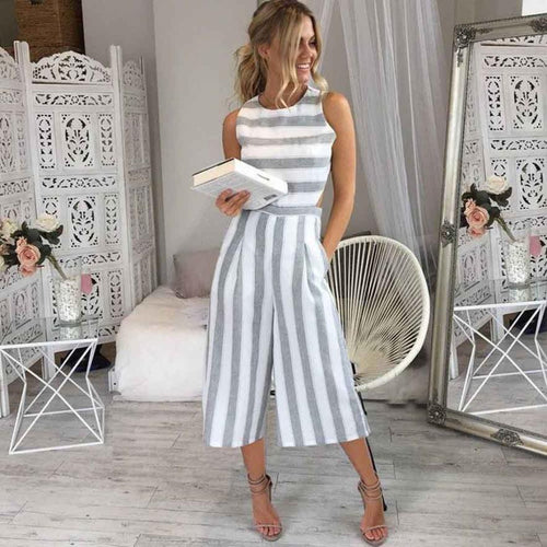 Eve - Sassy Striped Jumpsuit