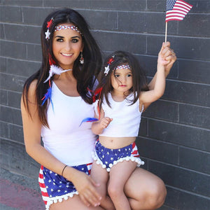 Super Cute Boho Girl 4th July Outfit