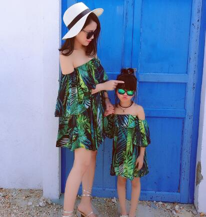 Mini Me Palm Print Beach Dress