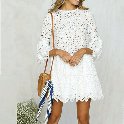 Cute Lace Skater Dress