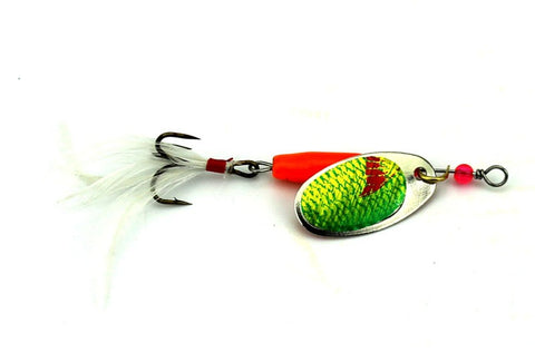 6pcs/Set 7.7g Upgraded Spinning Lure Set with Feather Teasers