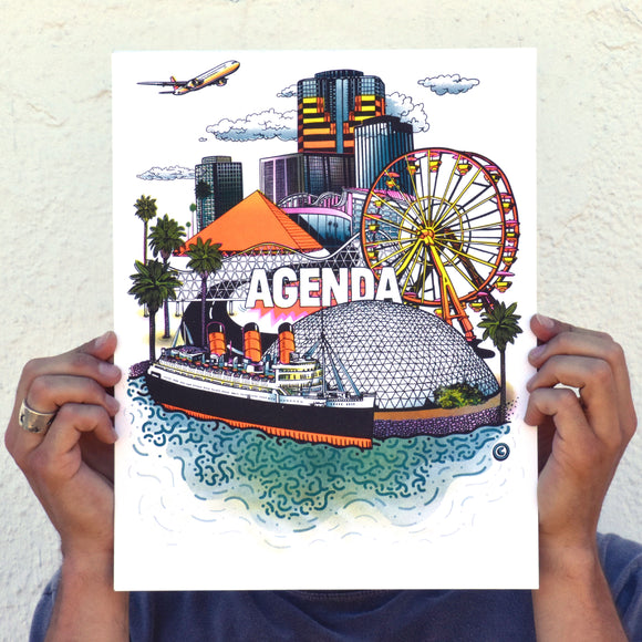 Long Beach (Agenda) - 4 Color Riso