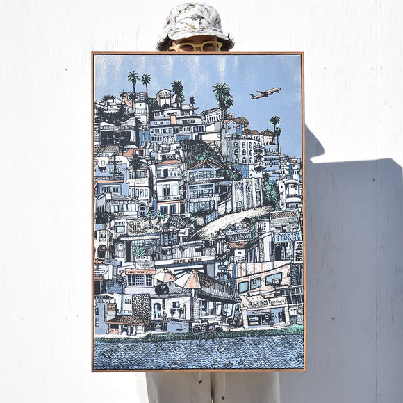 Playa Stacked (Silver) - Canvas