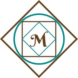This logo is created using geometric shapes with my initial M for Marcia. I design and create jewelry for women.