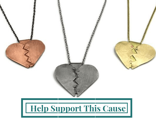 heart pendant necklace healing hearts heart pendant heart necklaces giving back domestic violence awareness