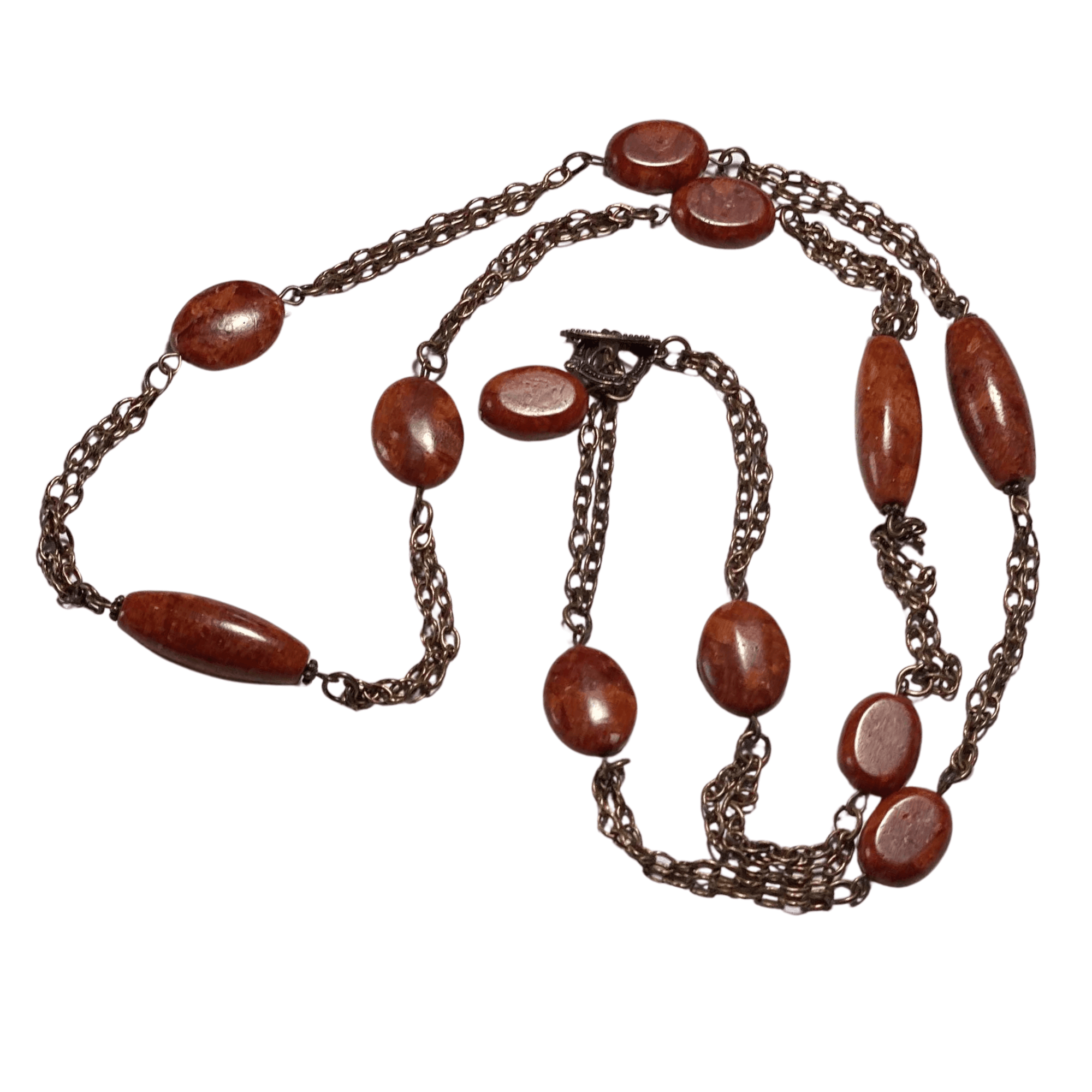 Fossil Coral and Copper Chain Necklace