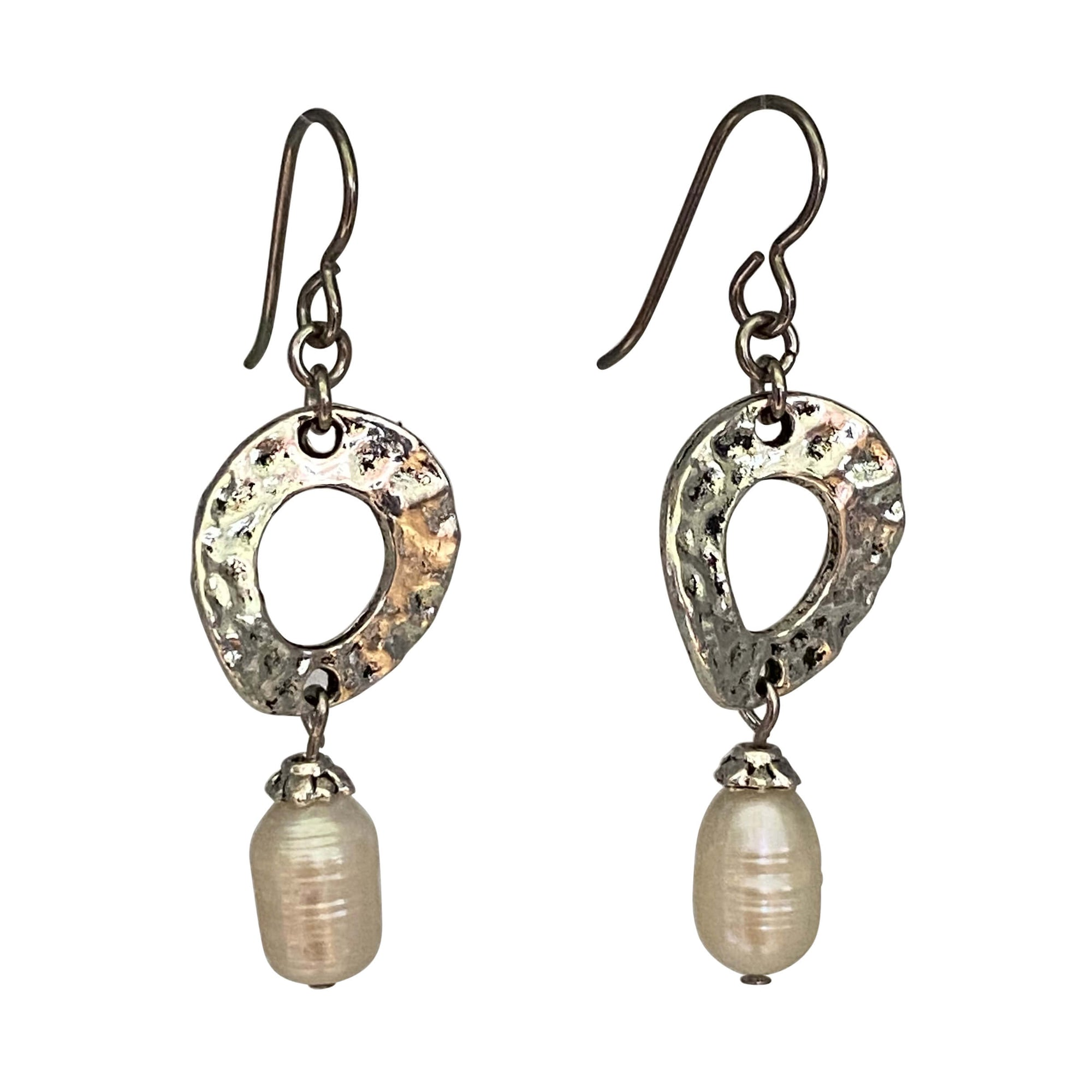 Baroque Pearl Dangling Earrings-Earrings- Creative Jewelry by Marcia