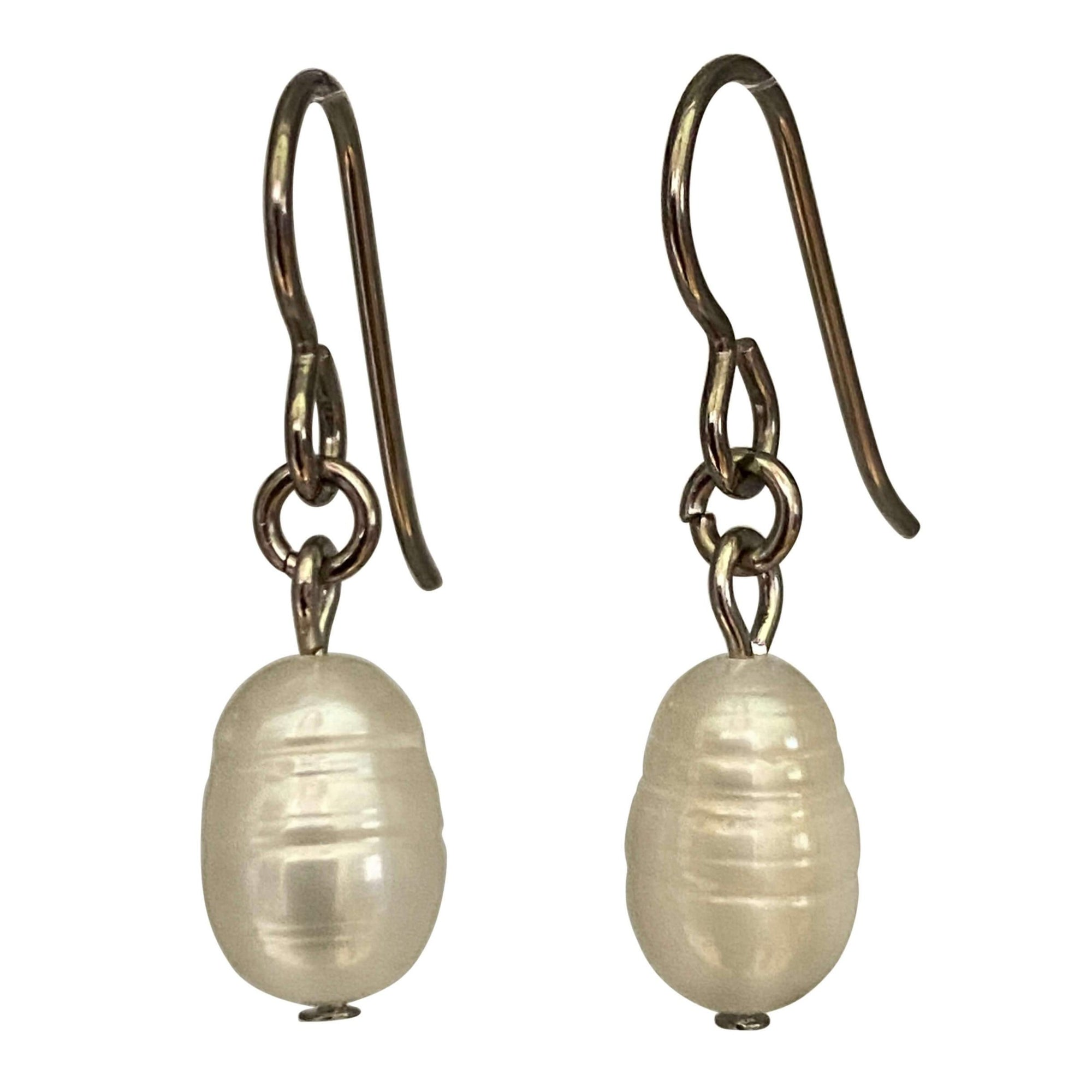 Baroque Pearl Drop Earrings-Earrings- Creative Jewelry by Marcia
