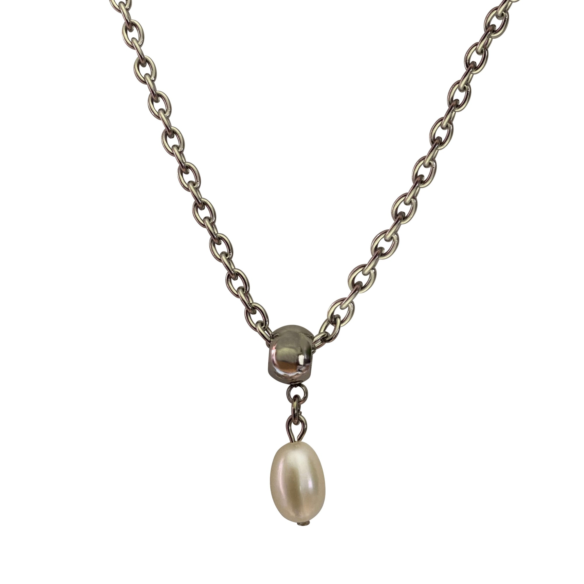 Freshwater Pearl Drop Pearl Necklace with Lobster Clasp-Necklaces- Creative Jewelry by Marcia