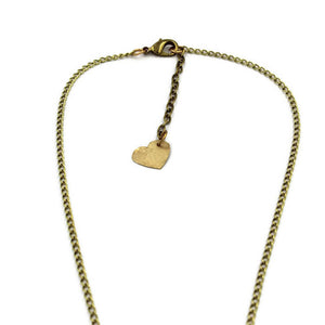Brass Healing Heart Pendant Necklace - Creative Jewelry by Marcia - Asymmetrical Jewelry - Timeless Jewelry