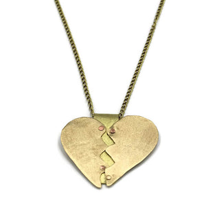 Healing Heart Pendant Necklace, Gold Heart Necklace