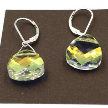 96a9d3d7db4137 AB Crystal Swarovski Crystal Earrings - Creative Jewelry by Marcia