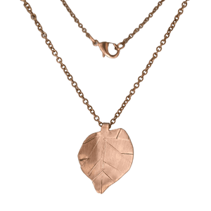 Copper Aspen Leaf Necklace-Necklaces- Creative Jewelry by Marcia